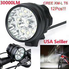 30000 Lm 11x CREE T6 LED 3 Modes Bicycle Lamp Bike Light Headlight Cycling Torch
