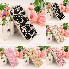 Cute Pattern Hybrid Soft Bumper Clear Hard Back Case Cover For iPhone 6 6s ED
