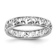 925 Sterling Silver Capricorn Zodiac Sign Patterned Stackable Ring Sz 5 - 10