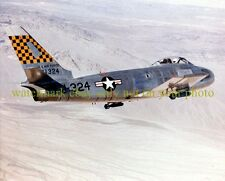 USAF F-86 Sabre Fightrer Jet Color Photo  Military Air Force Vet  Aircraft F 86