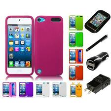 For Apple iPod Touch 5th 6th Gen Silicone Skin Soft Rubber Case Cover Charger