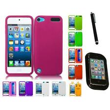 For Apple iPod Touch 5th 6th Gen Silicone Skin Soft Rubber Case Cover Mount+Pen
