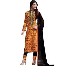 Readymade Ethnic Print Cotton & Embroidery Salwar Kameez Suit Indian-Sheesha-369