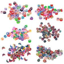 50pcs Polymer Clay Loose Spacer Beads Charms for Jewelry Making Craft Findings