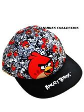 Toddler & Boys ANGRY BIRDS  Black & Whte Peaked Cap/Sun Hat   1-3  4-8  8-12 yrs