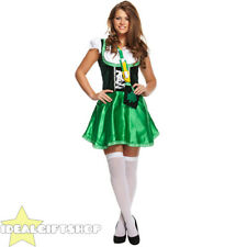 LADIES SEXY ST PATRICK'S DAY FANCY DRESS COSTUME SAINT PADDYS IRISH OUTFIT