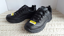 NIB Mens Work Shoes Tredsafe Slip-resistant Leather Black Anti-Fatigue