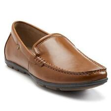 Men's APT 9 WINTON Brown/Tan Driving Loafers Slip On Canvas Casual Shoes NEW