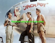 USAAC Boeing B-29 Superfortress  Jackpot Color Photo Military WW2  Bomber
