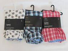 LOT OF 3 NEW WITH TAGS PAIRS OF MEN'S BANANA REPUBLIC BOXER SHORTS, SIZE LARGE