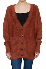 NEW Lee Knitted Jacket Ladies Cardigan Pullover Sweater Red L52LRMMU