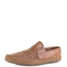 Mens Base London Stage Weave Tan Classic Leather Loafers Size