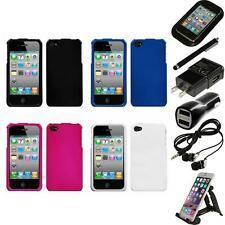 For Apple iPhone 4/4S Rigid Plastic Hard Snap-On Case Phone Cover Accessories
