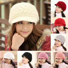 Knit Crochet Hat Winter Warm Baggy Beanie Slouch Ski Cap Hot Womens Ladies Beret