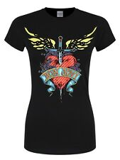Bon Jovi Heart & Dagger Women's Black T-shirt