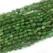 High Quality Natural Genuine Green Apatite Fluorapatite Nugget Free Form Beads