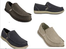 Men's CROCS Santa Cruz KHAKI & ESPRESSO BROWN & BLACK & NAVY BLUE Canvas  Shoes