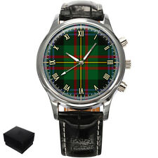 MACLAREN SCOTTISH CLAN TARTAN GENTS MENS WRIST WATCH  GIFT ENGRAVING