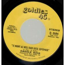 "CAROLE KING It Might As Well Rain Until September 7"" VINYL US Goldies 45"