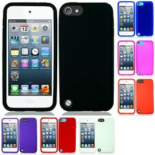 For Apple iPod Touch 5th Gen Silicone Case Gel Rubber Slim Grippy Skin Cover