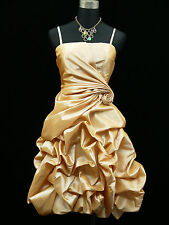 Cherlone Clearance Satin Ivory Prom Ball Cocktail Party Evening Bridesmaid Dress