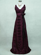 Cherlone Purple Satin Ball Wedding/Evening Sparkle Prom Bridesmaid Formal Dress