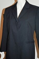 NEW dark NAVY blue TAILORED LONG LINE OFFICE JACKET - size UK 16