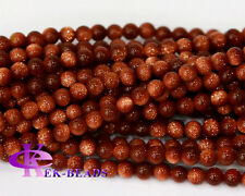 Wholesale Goldstone Round Loose Beads 3-12mm Jewelry Set Stone Round Beads