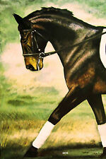 HORSE PRINT Giclee DRESSAGE Art CAPER by artist BETS 5 COLORS print size 14 X 19