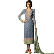 Bollywood Wedding Georgette Embroidered Salwar Kameez Suit India-Glamour-34004-A