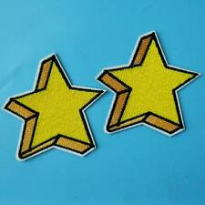 2 Star Iron on Sew Embroidered Badge Patch Cowboy Rock Biker Punk Applique Lots.