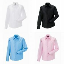 Russell Collection Mens Long Sleeve Tailored Ultimate Non-Iron Shirt