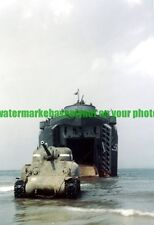 USN USS LST-547 Color Photo Military WW2 Army  Sherman Tank 1944