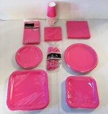 Hot Pink Party Tableware Plates cups napkins party Packs etc - Choose your item