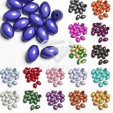 15pcs Acrylic Rice 3D Miracle Beads Illusion Jewelry Making 14x9.5mm 18 Colors