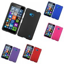 For Lumia 640 AT&T / Cricket Hard Snap-On Rubberized Phone Skin Case Cover