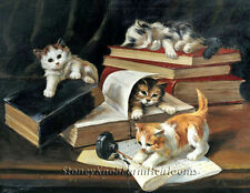 Kittens in the Library ~ Cats ~ Cross Stitch Pattern