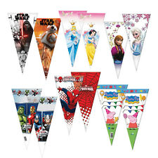 6 Large Cellophane SWEET CONE Bags (Party/Treat Cello Bags) {Playwrite}