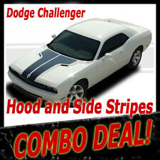 *HOOD / SIDE STRIPES Vinyl Graphics Decals COMBO (3M Grade) fits Challenger
