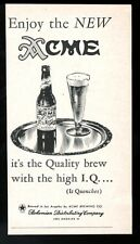 1949 Acme Beer bottle glass art Los Angeles vintage print ad