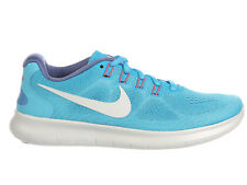 NEW WOMENS NIKE FREE RN (RUN) 2017 RUNNING SHOES TRAINERS CHLORINE BLUE / OFF WH