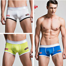 Superbody Men Sexy Fresh Colors Cotton Boxer Briefs Underwear Male Underpants
