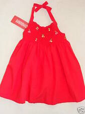 Gymboree CHERRY BABY Red Smocked Halter Sun Dress & Diaper Cover NWT 3-6 Girls
