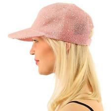 Everyday Bling Sequins Party Vented Solid Visor Baseball Ball Sun Cap Hat