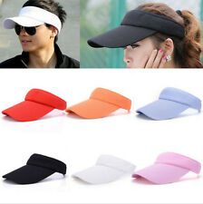 Men Women Sport Golf Tennis Beach Hat Plain Visor Outdoor Adjustable Sun Cap qds