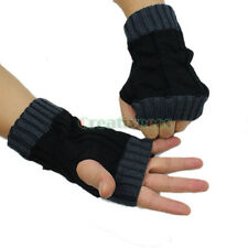 Unisex Lovers Couples Knit Riding Bicycle Winter Arm Warmers Fingerless Gloves