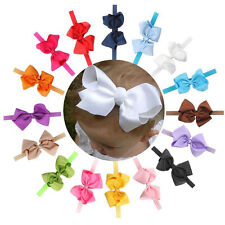 Toddler Infant Baby Girls Bowknot Elastic Headband Hair Bow Hair Band Hot Trendy