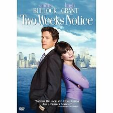 Two Weeks Notice (DVD, 2003, Full Frame) Hugh Grant, Sandra Bullock