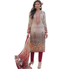 Readymade Cotton Printed Sober Embroidery Salwar Kameez Suit India-Sadhna-2-9007