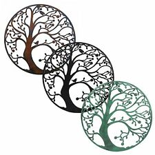 Large 58cm Metal Tree of Life Circle Wall Art Sculpture for Home or Garden